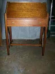 Drop Front Secretary Desk by Drop Front Oak Secretary Desk W One Drawer Ebay