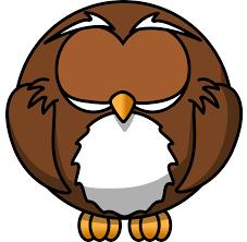 clipart cartoon owl asleep