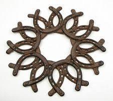 horseshoe wreath horseshoe wreath home decor ebay