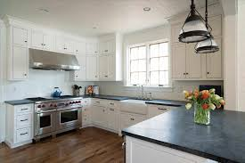 white kitchen cabinets with slate countertops pin on kitchen