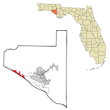 Panama City Beach Map File Bay County Florida Incorporated And Unincorporated Areas