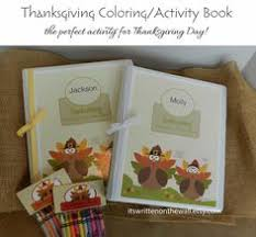thanksgiving coloring activity book crayon bag toppers