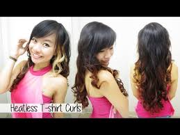 cute girl hairstyles rag curls how to curl hair without heat l heatless t shirt curls rag curls l