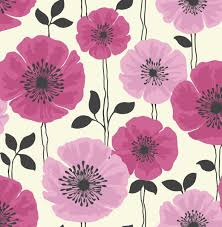 fine decor poppie red and black motif floral wallpaper fd14868