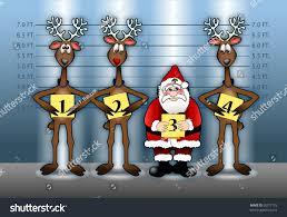 cartoon illustration depicting santa claus his stock illustration