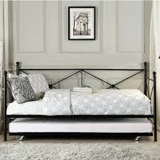 Wrought Iron Daybed Astonishing Rod Iron Daybed With Trundle Bedding White Wrought