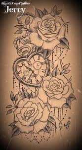 top 3 roses on hip designs piercings and tatting