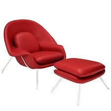 saarinen style womb chair and ottoman multiple colors designer