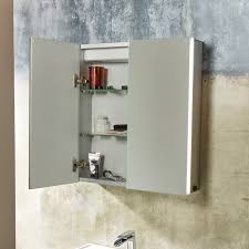tavistock sleek double door led mirror cabinet 600 x 650 with