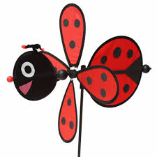 Bee Garden Decor New Large Bumble Bee Ladybug Windmill Toy Wind Spinner Home Yard