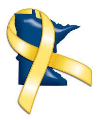 blue and yellow ribbon minnesota national guard beyond the yellow ribbon
