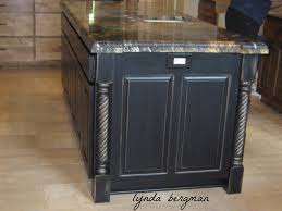 distressed black kitchen island lynda bergman decorative artisan painting s kitchen