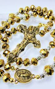 catholic rosary online antique vintage style reflective gold catholic rosary my