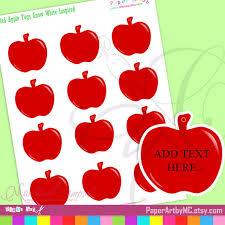 apple favor tags editable snow white inspired jpeg file