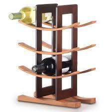 furniture curved wooden floor standing wine racks home fileove