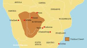 africa map kalahari desert kalahari desert africa