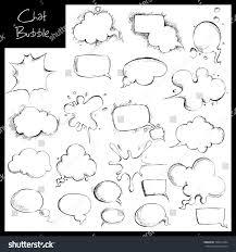 illustration set hand drawn sketch chat stock vector 100610704