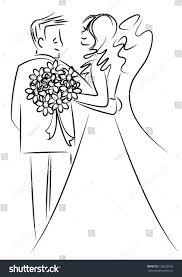 married couple cartoon vector stock vector 136639538