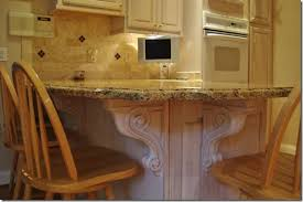 kitchen island with corbels accenting your kitchen remodel with carved corbels osborne