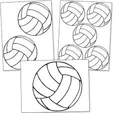 printable volleyball template classroom ideas pinterest