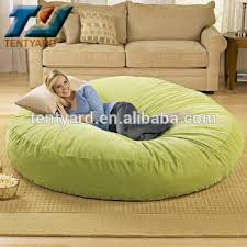 last sales green round bean bag sofa bed round soft coner beanbag