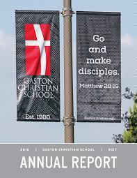 Christian Banner Flags 2016 17 Gaston Christian Annual Report By Randyerwin70 Issuu