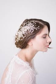 wedding hair piecegold bridal combbridal headpiecegold
