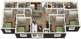 four bedroom apartment 3d four bedroom apt for rent using four bedrooms also