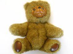 wooden faced teddy bears robert raikes bears variegated grey black fur wood and