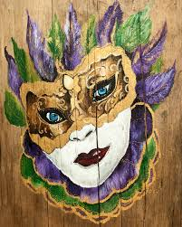 mardi gras mask painting by stacey blanchard