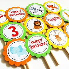 safari cake toppers safari animals cupcake toppers on storenvy