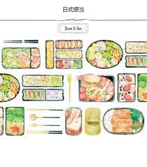 masking cuisine japanese food washi masking decorative stickers