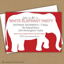 white elephant christmas party invitations college application
