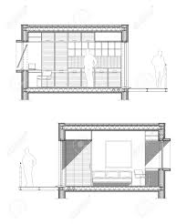 Square Meters by Technical Architect Drawing Of A Section Of A Student Room Of