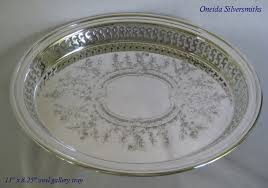 engraved silver platter vintage sterling and silverplated holloware rm sterling