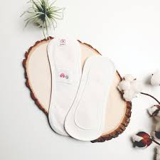 organic cotton reusable natural sanitary pad wing free white