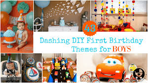 1st Birthday Party Decorations Homemade 43 Dashing Diy Boy First Birthday Themes