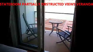 celebrity stateroom partially obstructed views veranda youtube