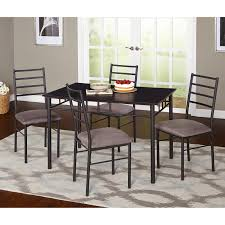 Dining Room Furniture Sets steve silver calvin 5 piece glass dining table set black hayneedle