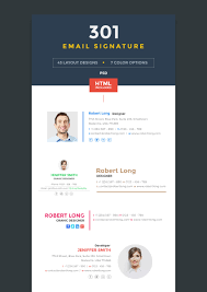 12 professional email signature templates with unique designs