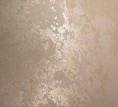 metallic faux paint for the top half of the dining room with a