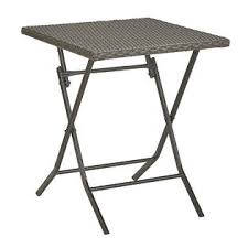 garden oasis resin wicker folding square table