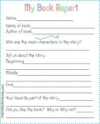 Book Report Worksheet for Primary Grades