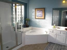 bathtubs idea interesting corner jacuzzi tub shower combo bath corner jacuzzi tub shower combo bathtub shower combo design ideas cozy blue bathroom