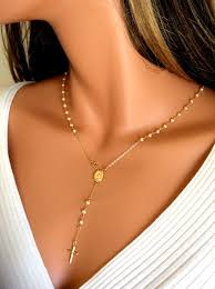all gold rosary necklace images Pearl rosary necklace women cross pendant gold rosaries 14kt jpg
