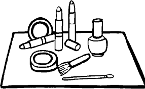 free printable makeup coloring pages coloring
