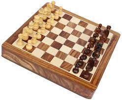 souvnear 31 cm wooden chess set game with magnetic chess pieces