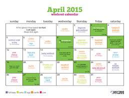 workout calendarsample workout calendar workout schedule weekly