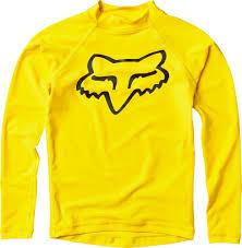 fox motocross baby clothes fox racing legacy youth rash guard long sleeve shirt blaze yellow