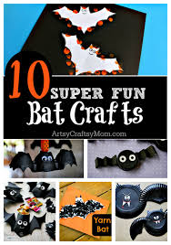 Easy Halloween Craft Projects - top 10 easy halloween bat crafts for kids artsy craftsy mom